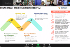 Pemaparan presentasi dari Assisten Deputi Pemasaran Kementerian Koperasi dan UKM Destry Anna Sari