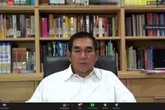 Penyampaian materi oleh Ahli Hukum Tata Negara, Dr. Hamzan Zoelva, S.H., M.Hum
