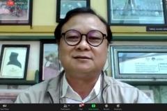 Penyampaian materi dari Ilmuan Politik Unas, Prof. Dr. Firdaus Syam, M.A.