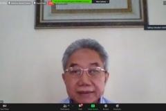 Penyampaian materi oleh Ilmuwan Hukum Islam Univ. Islam Negeri Syarif Hidayatullah, Prof. Dr. Masykuri Abdillah, M.A.