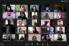 Para peserta yang hadir dalam webinar