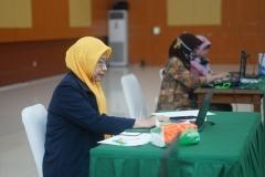 Pembicara webinar Dr. Irma Indrayani S.I.P. M.Si_. sedang memberikan materinya