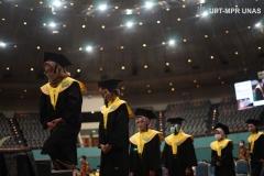 Wisuda Pascasarjana, Sarjana, Profesi, Diploma Universitas Nasional, dan akademi-akademi Nasional  periode I tahun akademik 2019/2020 di Jakarta Convention Center (JCC), Senayan pada Sabtu, 28 November 2020