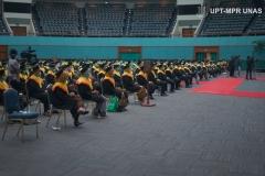 Wisuda Pascasarjana, Sarjana, Profesi, Diploma Universitas Nasional, dan akademi-akademi Nasional  periode II T.A. 2019/2020 di Jakarta Convention Center (JCC), Senayan pada Minggu, 29 November 2020
