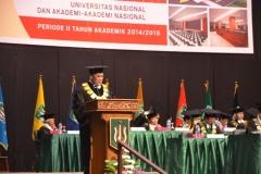 Pidato Rektor Dr. El Amry Bermawi Putera saat wisuda periode II