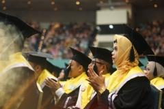Calon wisudawan magister Universitas Nasional