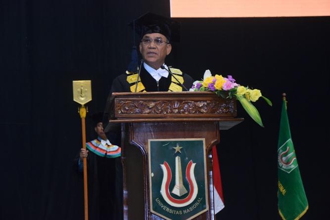 sambutan  oleh rektor UNAS