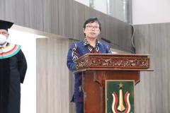 Sambutan Ketua Pelaksana Dr. Viktor Vekky R. Repi, S.T., M.T. pada wisuda Periode I Tahun Akademik 2020/2021 , Sabtu 26 Juni 2021