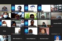 Saat kegiatan pelatihan workshop penulisan berita dan tata kelola konten website berlangsung pada Rabu, 17 Februari 2021 melalui aplikasi zoom