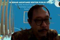 Sambutan Ketua Prodi Akuntansi Dr. Bambang Subiyanto, S.E., Ak., M.Ak., dalam Workshop SPSS yang diselenggarkaan oleh Himpunan Mahasiswa Jurusan Akuntansi UNAS pada hari Kamis, 29 Juli 2021