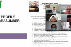 Webinar Keperawatan Luka 'Nursepreneurship Dalam Bidang Wound Care' melalui aplikasi zoom pada Sabtu 30 Januari 2021