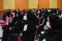 Para lulusan fakultas Hukum dalam kegiatan Yudisium di Aula Blok I Lantai IV Unas