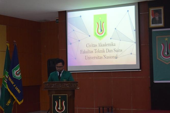 Ucapan terima kasih dan kesan dan pesan yang disampaikan oleh wisudawan terbaik fakultas teknik dan sains UNAS dalam acara yudisium fts