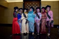 Para calon wisudawan saat acara pelepasan wisudawan dan wisudawati Fakultas Ilmu Kesehatan Semester Genap Tahun Akademik 2018/2019 di Menara 165 Convention Center Jakarta (21/9) di ballroom Granada
