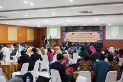 Yudisium Fakultas Ilmu Sosial dan Ilmu Politik di Aula Blok 1 lantai 4 UNAS, Selasa (10/9)