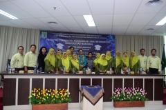foto bersama dosen dilingkungan FTKI UNAS,  di acara yudisium FTKI, di Menara UNAS, Ragunan, Jakarta, Senin (15-4)