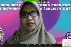 Sambutan Ketua Panitia Yudisium, Ira Diana Sholihati, S.Si.,  MMSI.