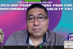 Penyampaian materi oleh Professor FTKI, Prof. Dr. Iskandar Fitri, S.T., M.T.
