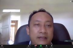Penyampaian materi oleh Ketua LSP Informatika, Muhaemin, S.Kom., MM., M.Kom.