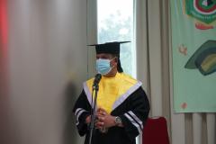 Sambutan oleh Ketua Panitia Yudisium Magister Hukum Sekolah Pascasarjana Universitas Nasional TA Semester Ganjil 2020/2021 Fernando Simanjuntak, S.H M.H pada hari Sabtu, 19 Juni 2021