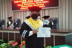 Foto Wisudawan dalam Yudisium Magister Hukum Sekolah Pascasarjana Universitas Nasional pada hari Sabtu, 19 Juni 2021