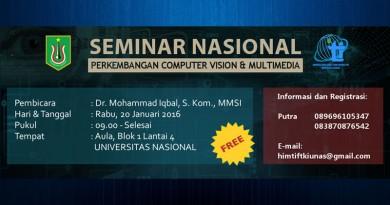Seminar Nasional Perkmbangan Computer Vison dan Multimedia