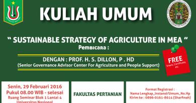 Kuliah Umum Fakultas Pertanian 2016