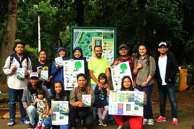 Resmikan Peta Infografik dan Papan Informasi Hutan Kota