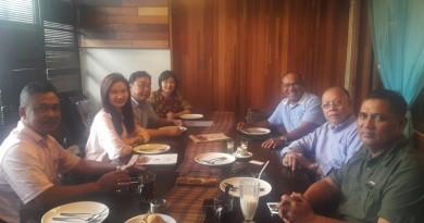 pertemuan rektor dengan alumni asal china dan profesor malaysia