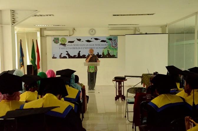 Pelepasan Mahasiswa Lulusan Fakultas Biologi  UNAS