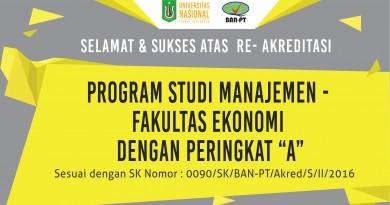 """UNAS- Fakultas Ekonomi Prodi Manajemen Akreditasi """"A"""""""