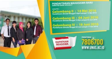 Jadwal Tes Masuk Universitas Nasional 2016