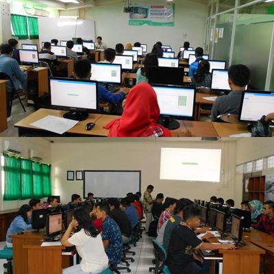 Ratusan CAMABA Ikuti Ujian Online Tes Masuk UNAS