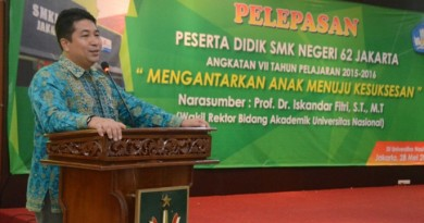 Prof. Iskandar Fitri: Punya Karakter, Integritas dan Cerdas