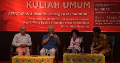 Kuliah Umum Bersama Xie Fei: Pemerintah Harus Dukung Perfilman di Negeri Sendiri