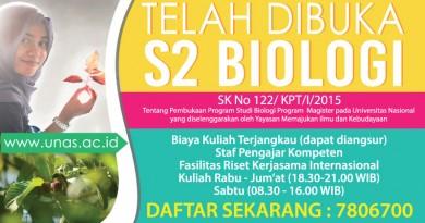 S2 Biologi (UNAS) 2016