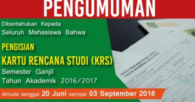 Pengumuman-KRS-UNAS