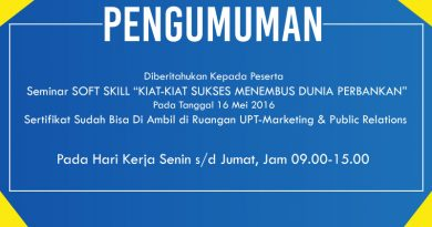 Soft Skill Bank Mandiri di Universitas Nasional