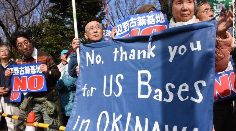 Puluhan Ribu Warga Jepang Tolak Kehadiran Militer AS