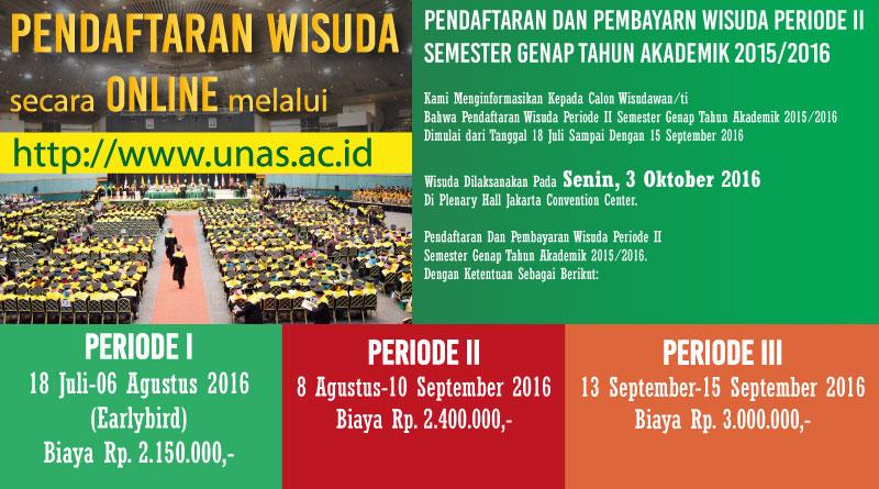 Pendaftaran Wisuda Periode II 2016