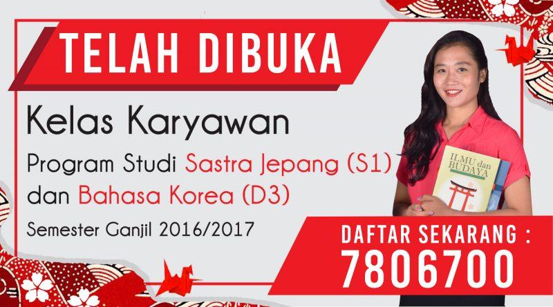 Kelas Karyawan Program Studi Sastra Jepang & Bahasa Korea