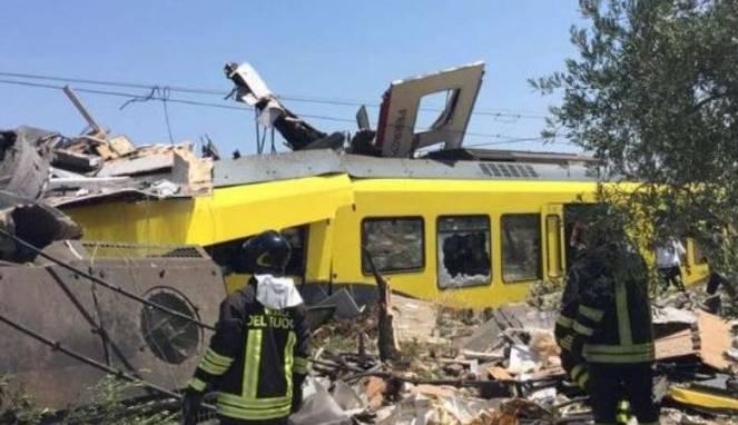 Korban Kecelakaan Kereta di Italia Jadi 25 Orang