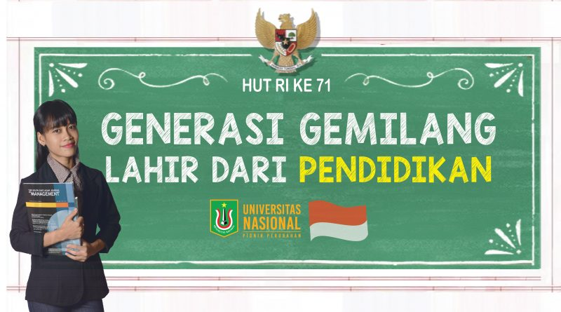 HUT RI KE 71 UNAS UNTUK INDONESIA