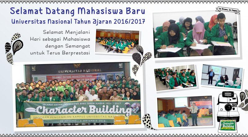 Character Building Mahasiswa Baru tahun ajaran 2016/2017