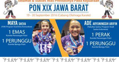 Kejuaraan PON XIX JAWA BARAT September 2016 (Cabang Olahraga Karate)