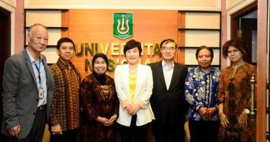 Kerjasama: foto bersama dalam kerjasama kedua Universitas. antara UNAS dan Incheon Jei University, Jakarta, Senin (26/9)