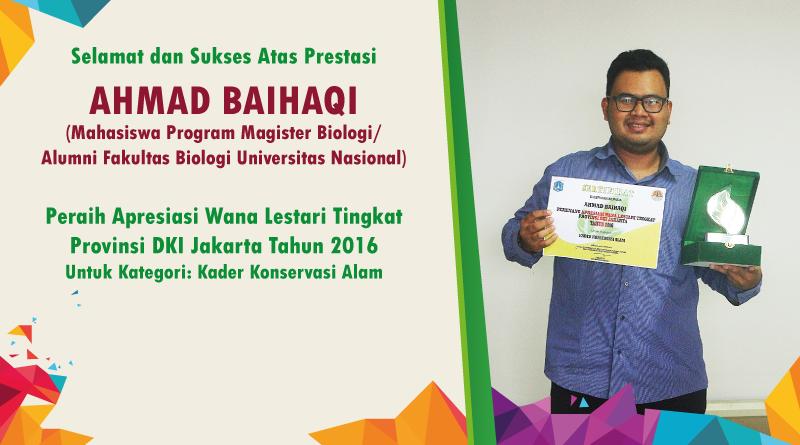 Peraih Apresiasi Wana Lestari Tingkat Provinsi DKI Jakarta Tahun 2016