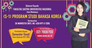 S1 Sastra Korea Universitas Nasional