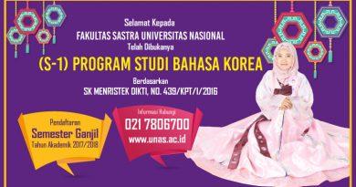 S1 Bahasa Korea Universitas Nasional