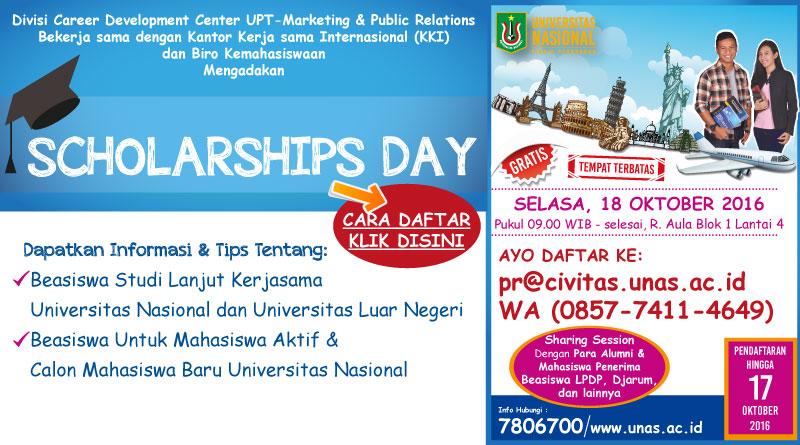 Scholarships Day 2016 (Universitas Nasional)